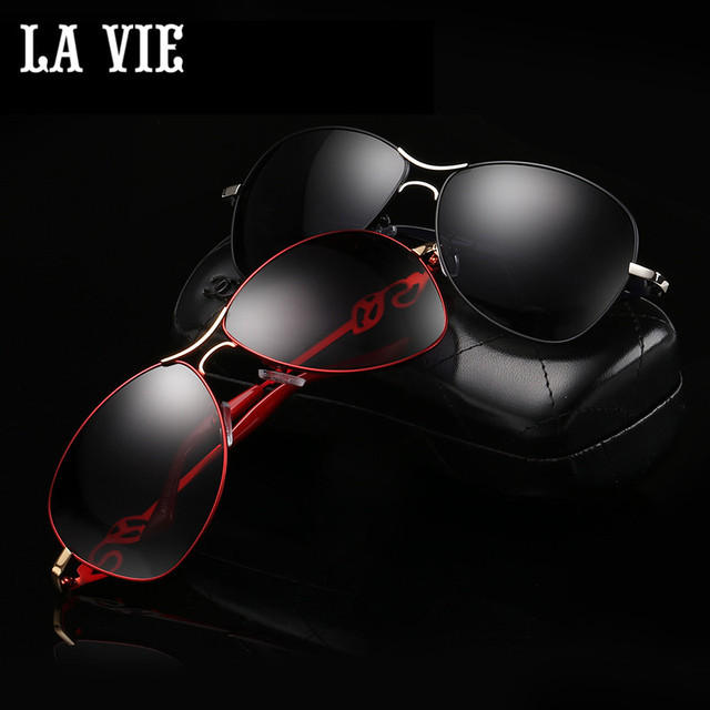 242003478fd LA VIE Polarized Fashion Elegant Alloy Women Sunglasses New Graceful Style  Female Sun Glasses Oculos De