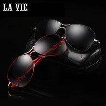LA VIE Aleación Elegante de la Manera de Las Mujeres gafas de Sol Polarizadas Nueva Agraciada estilo Femenino Gafas de Sol Gafas De Sol Gafas De Sol LVA291