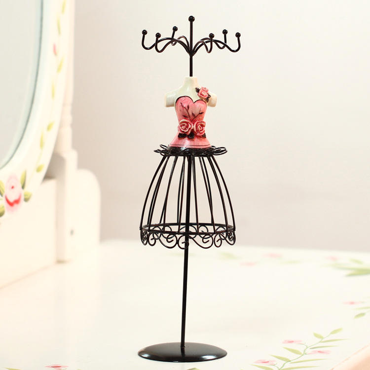 Fashion Women Shape Wrought Iron Jewelry display rack Earring Necklace Holder Earring Accessaries Storage Rack Home Decor/Gifts