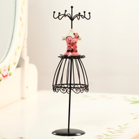 Fashion Women Shape Wrougt Iron Jelery Display Rack Earring Necklace Holder Earring Accessarries Storage Rack Home