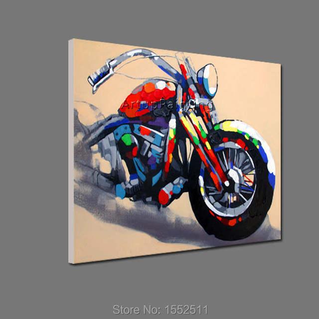 Online Shop Motosiklet Motosiklet Boyama Ev Dekor Oturma Odası Için