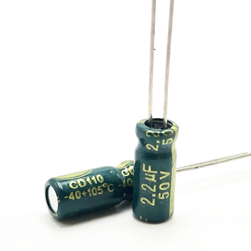 50V 2.2UF 5*11 High Frequency Low Impedance Aluminum Electrolytic Capacitor 2.2uf 50v 20%