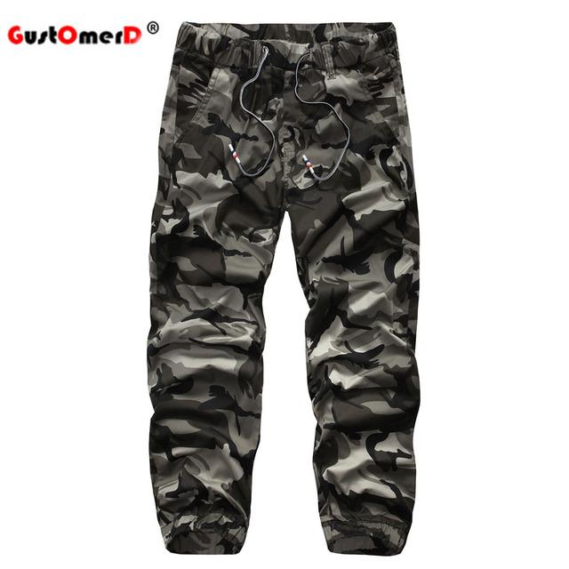 GustOmerD 100% Algodón de Camuflaje Para Hombre Chándal Casual Ejército Militar Pantalones Deportivos Pantalones Masculinos de Alta Calidad Pantalones de Los Hombres