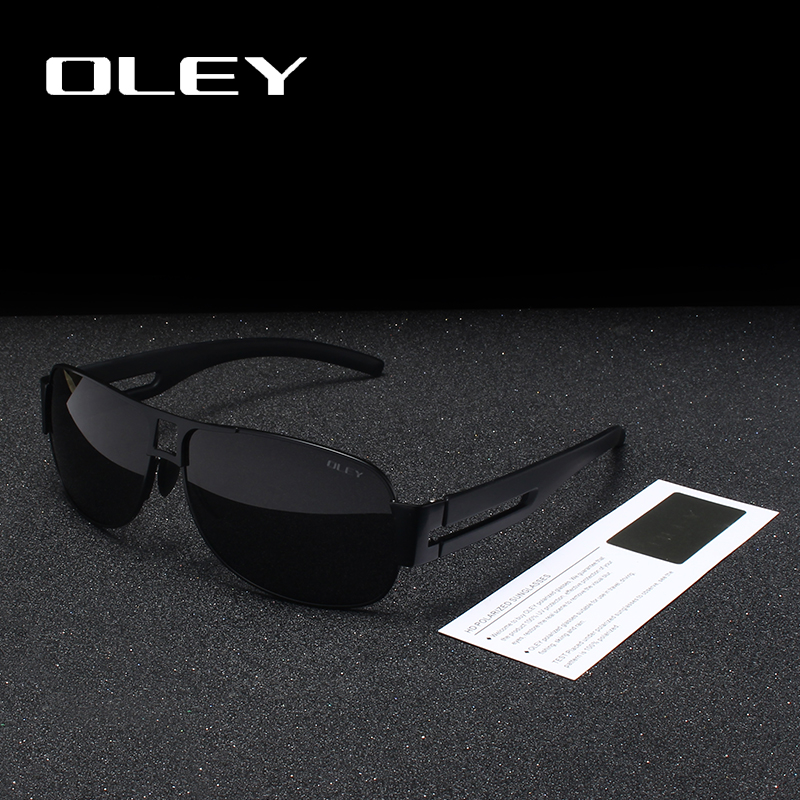 OLEY Classic Brand Polarized Sunglasses Men Fashion Pilot Goggles Driving Glasses Rectangle For Oculos masculino Male