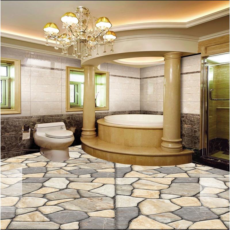 Купить с кэшбэком beibehang Large Custom Wallpaper Mural HD 3D Marble Tile Parquet Carpet Thicker Living Room photo wallpaper