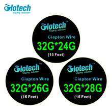 Glotech 5m/roll Clapton Wire heating wire for RDA RBA RTA DIY Rebuildable Atomizer Coil E-Cigarette Vaporizer coils