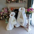 Flower Girls Wraps Hooded Wedding Cloak White / Ivory Faux Fur Trim Long Kids Winter Jakcet / Capes / Coat / Wraps / Poncho