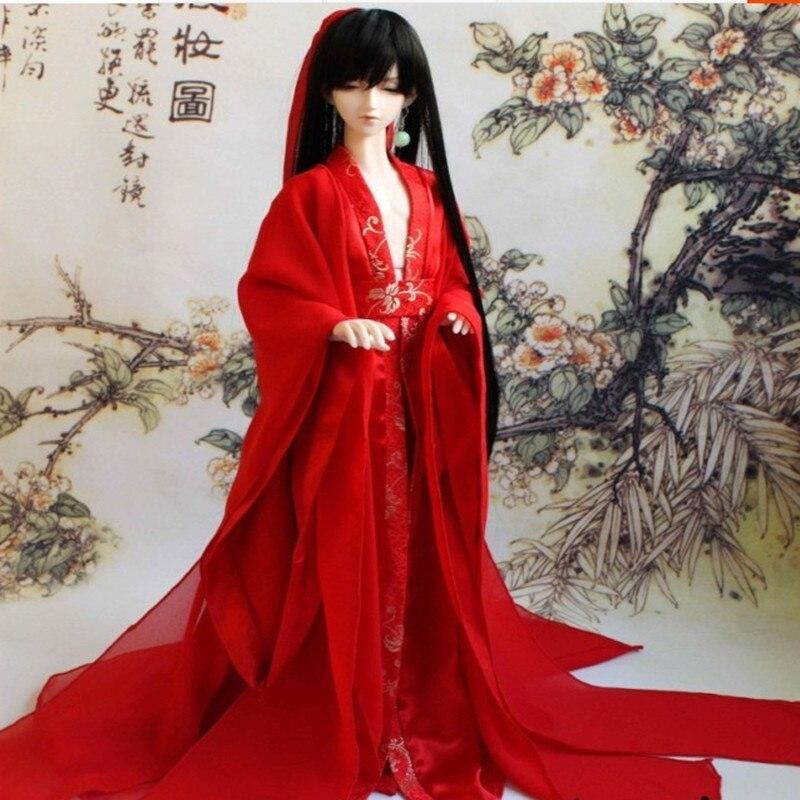 Bjd زي الصينية القديمة زي الطفل ملابس bjd-في إكسسوارات الدمى من الألعاب والهوايات على  مجموعة 1