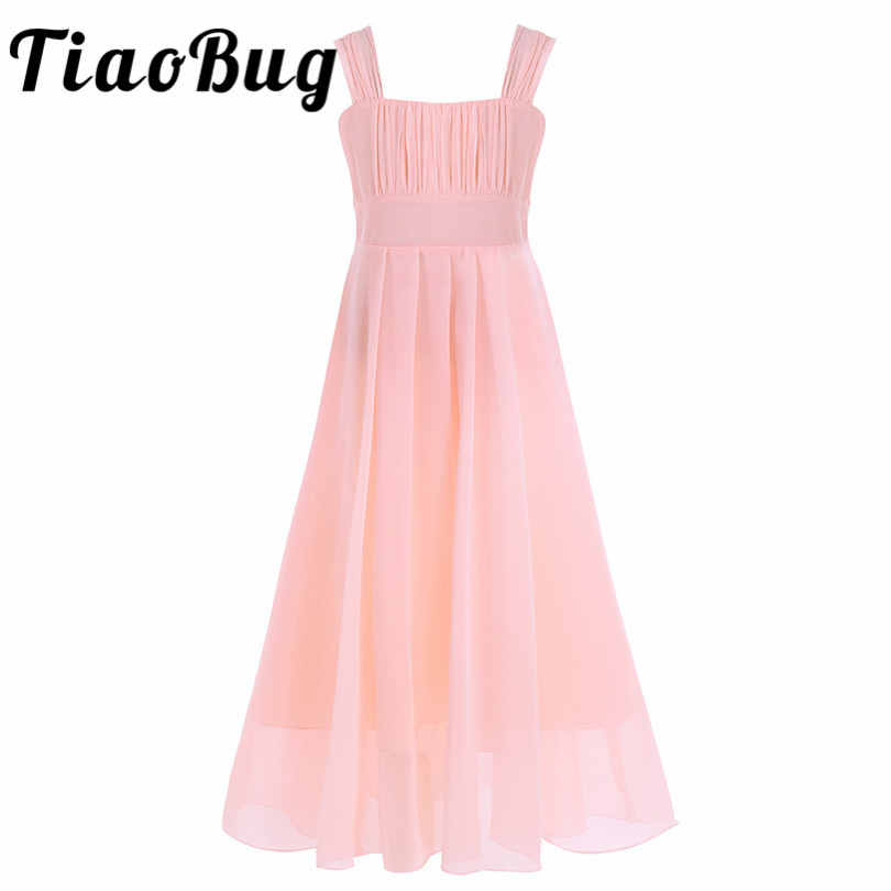 Charitable Tiaobug Girls Chiffon Flower Girl Dress Kids Pageant Party Ball Gown Prom Princess Dress For Wedding Formal Occassion Dependable Performance