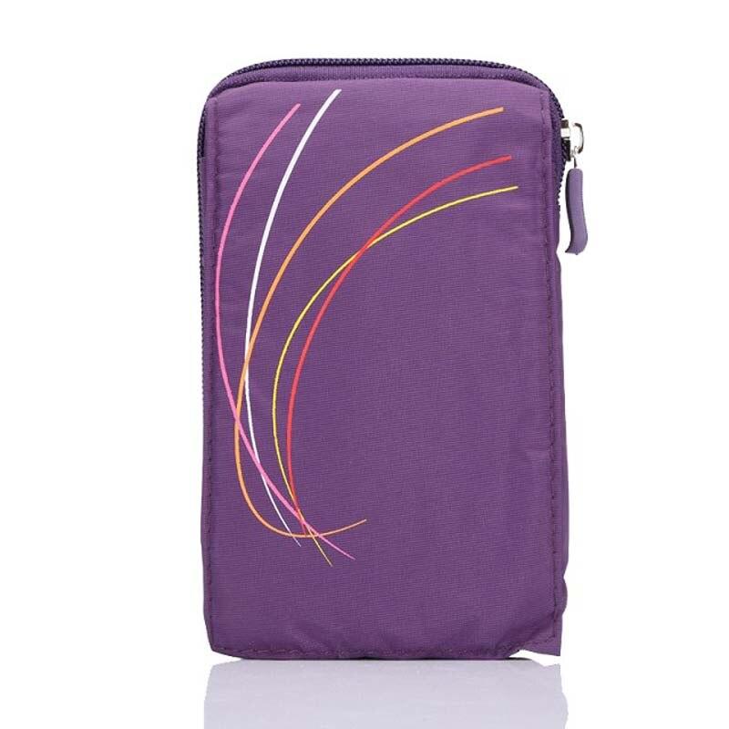 New Sports Wallet Mobile Phone Bag For Multi Phone Model Hook Loop Belt Pouch Ho