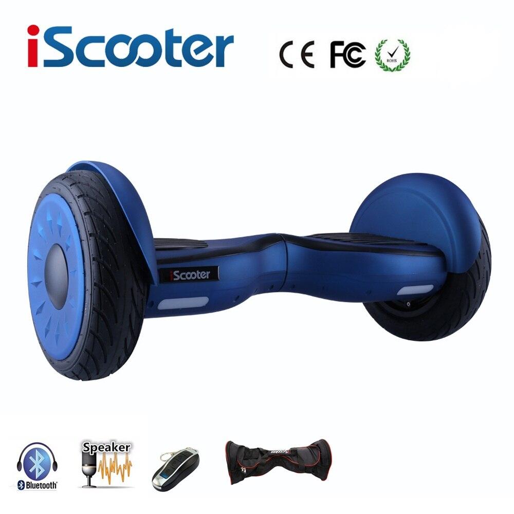 IScooter hoverboard 10 pouce bluetooth deux roues smart auto équilibrage scooter électrique planche à roulettes avec haut-parleur giroskuter UL2722