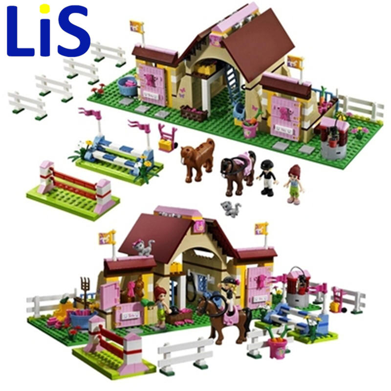 Lis 10163 Bela Building Blocks Series Heartlake Stables Mia's Farm Horse Girls Toys Compatible with 3189 10163 400pcs bela building blocks series friends heartlake stables mia s farm horse figures girls toys compatible with legoe