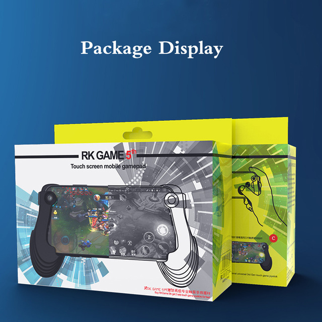 Portable Mini Controller Grip Touch Screen Mobile Gamepad + 3D Joystick + Suction Cup for iPhone for Pad Android SmartPhones