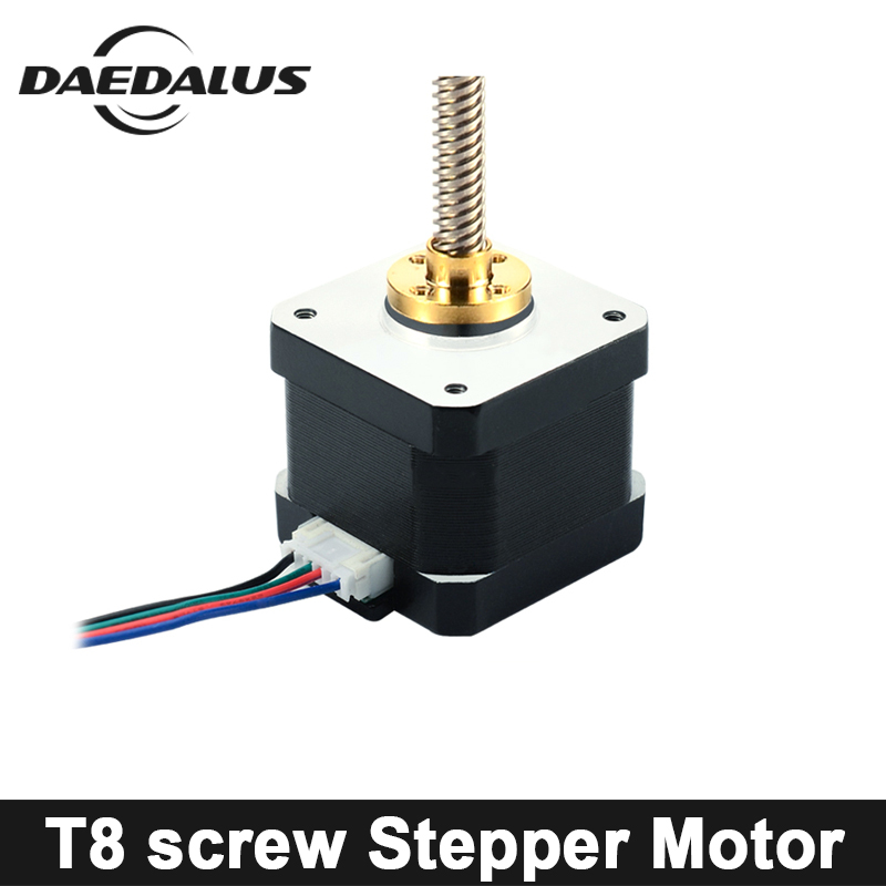 купить 42 Stepper Motor Nema17 Stepper Motor With T8 Screw 4-lead 400mm 1A 42 Motor For CNC XYZ 3d Printer Engraving Machine по цене 1885.57 рублей