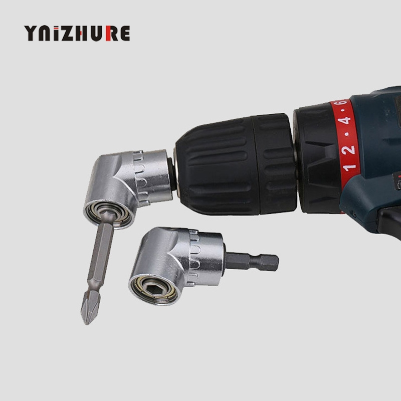 105 Degree Angle Extension Screw Driver Socket Holder Adapter Adjustable Bits Nozzles For Screwdriver Bit Right Angle Head