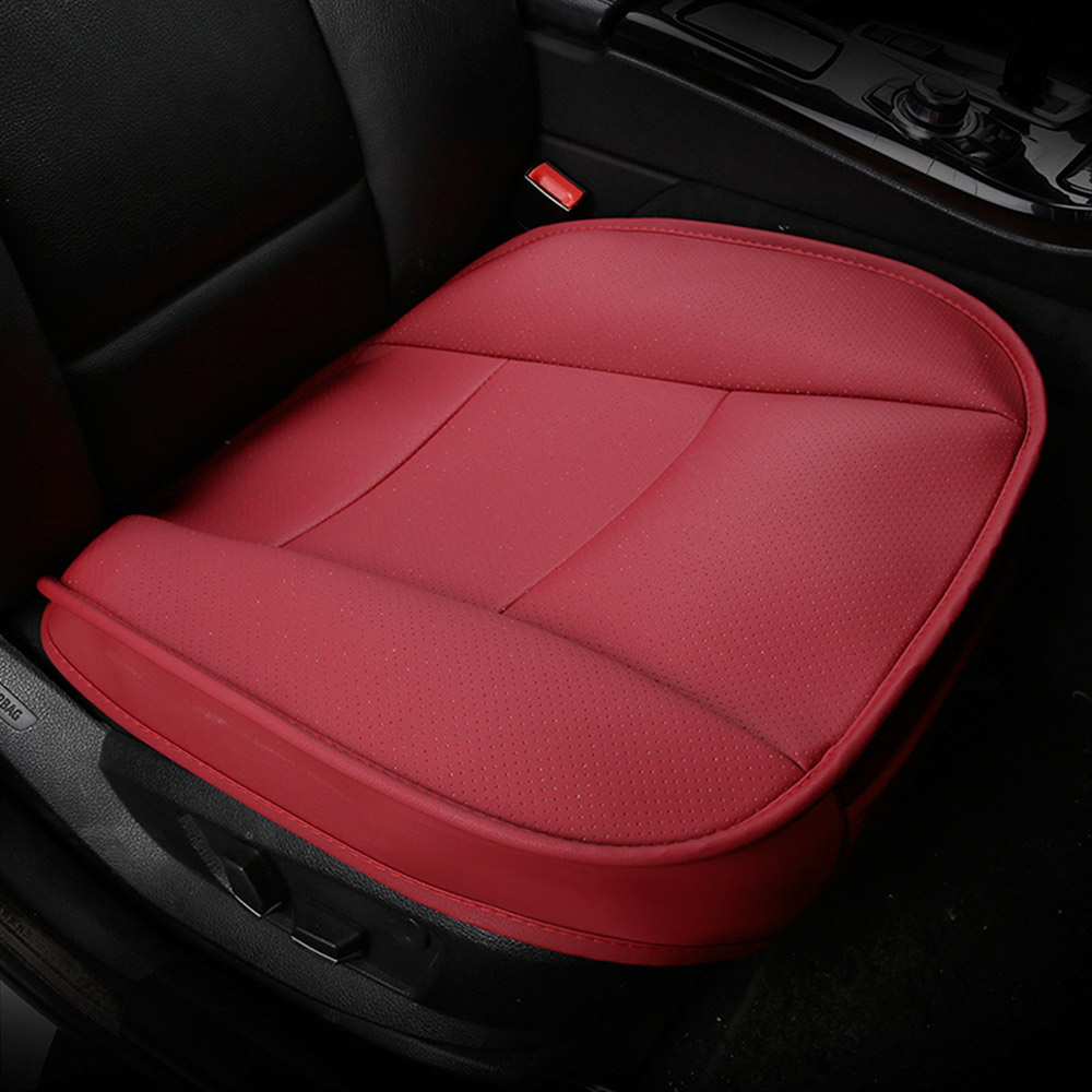 FLY5D 1PCS Deluxe PU Leather Car Seat Cover Without Backrest Car Protective Cover Seat 4 Color