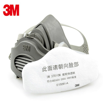 3M 3200 Half Face Gas Mask Respirator KN95 3701 Filters Safety Protective Mask Anti Industrial Dust Building Anti PM2.5 Fog Mask