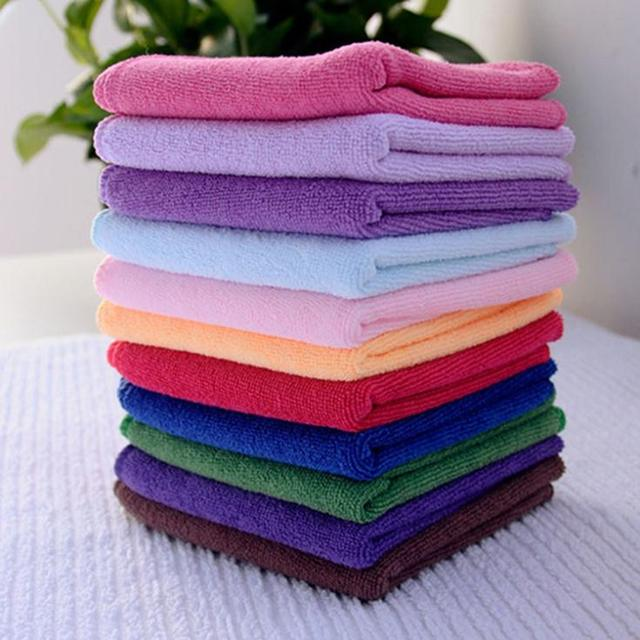 10Pcs Square Luxury Soft Fiber Face/Hand Car Cloth Towel Car Cloth Towel House Cleaning Wholesale 24.5*23.5cm