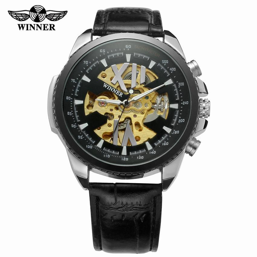 Mechanische Uhren Uhren Treu Modemarke Männer Mechanische Uhr Männlich Reloj Hombre Relogio Masculino Beiläufige Skeleton Vorwahlknopf Selbst Wicklung Geschäfts Uhren Knitterfestigkeit
