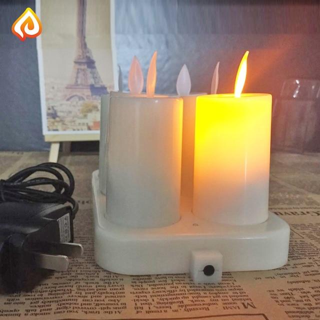 Led Candle Light Bulb Lamp Rechargeable Decorative Led Flameless