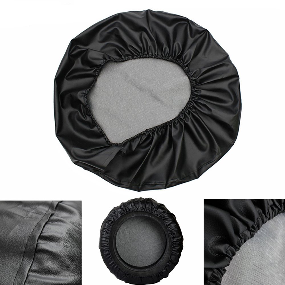 "Image 2 - 14"" 15"" 16"" 17"" Inch Heavy Duty PVC Leather Spare Tire Wheel Cover Case Pouch Protector Bag For Mitsubishi Pajero-in Tire Accessories from Automobiles & Motorcycles"