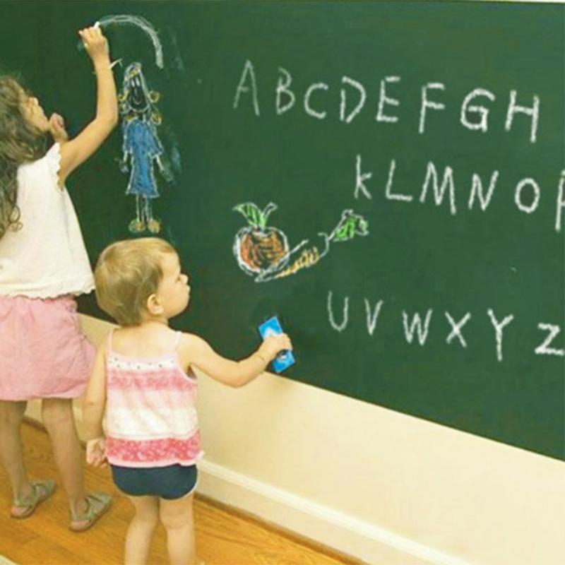 60*200cm Large Size Blackboard Sticker Removable PVC Wall Drawing Writing Art Green Chalkboard Krijtbord School Office Supplies