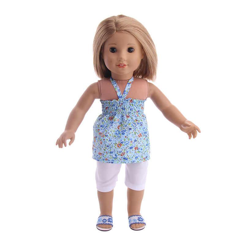 ホット販売人形夏 5 個ストラップ服 & 18 インチアメリカ人形 & 43 センチメートルためのベビードール服 Girl 'S のおもちゃ世代