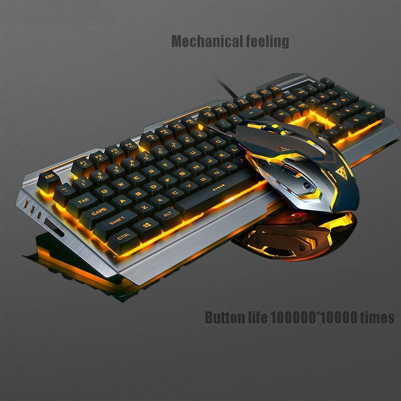 Sago V1 USB filaire Pro clavier de jeu et souris rétro-éclairé clavier de jeu 104 touches clavier et souris Gamer pour ordinateur portable de bureau