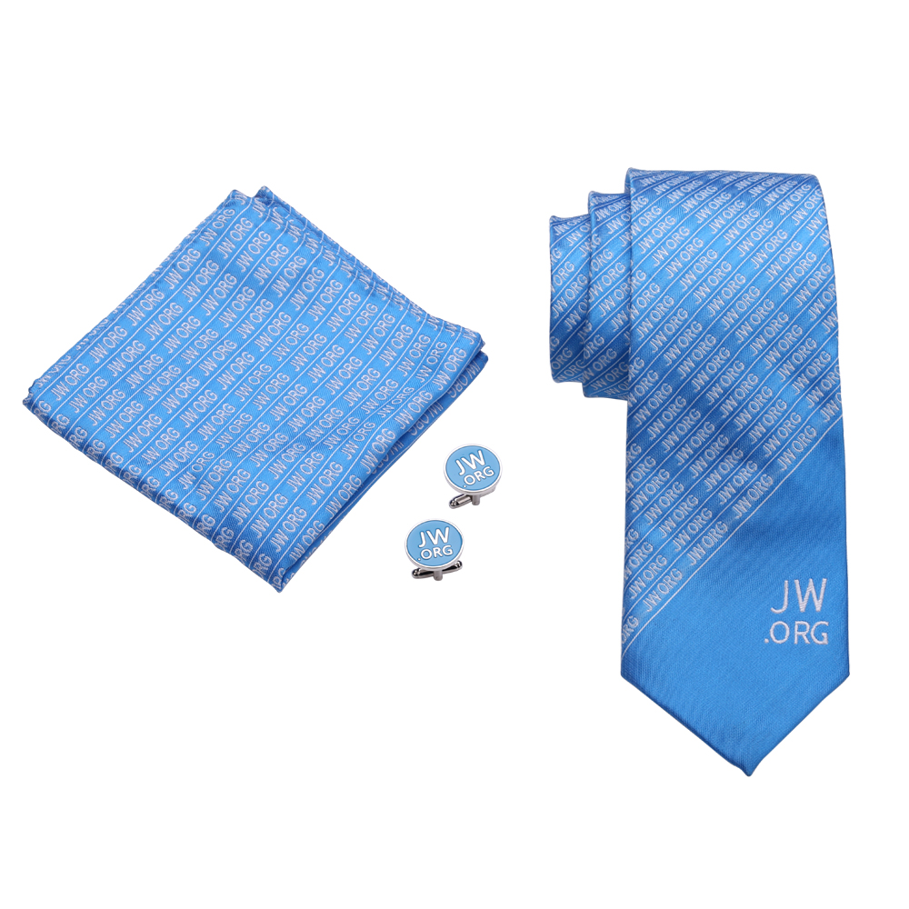 Jw org Men Necktie and Tie Clip and Cuff links and Pin Set -in Pins