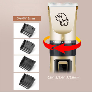 Image 3 - Sạc Tiếng Ồn Thấp Tỉa Lông Cho Thú Cưng Tẩy Cắt Chải Lông Chó Mèo Tông Đơ Cắt Tóc Điện Vật Nuôi Tóc Cắt Máy USB sạc