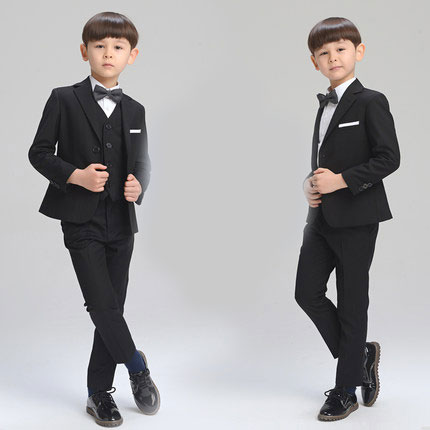 ( Jacket + the vest + pants+shirt+bow tie ) New boys slim fit Flower girl Five-piece suits / Boy good groom dress /boy Blazers