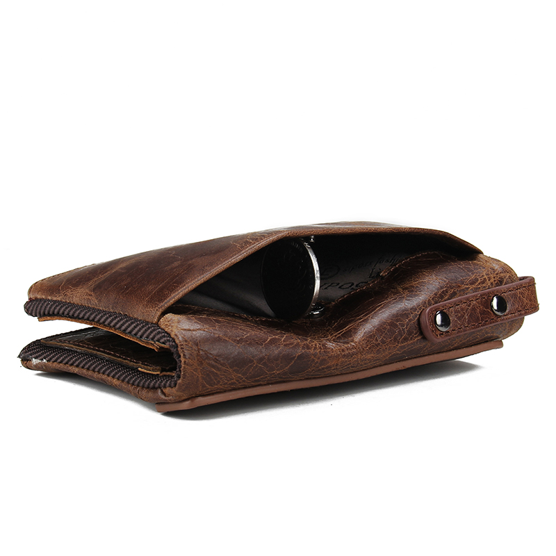 Image 4 - CONTACT'S HOT Genuine Crazy Horse Cowhide Leather Men Wallet Short Coin Purse Small Vintage Wallets Brand High Quality Designer-in Wallets from Luggage & Bags