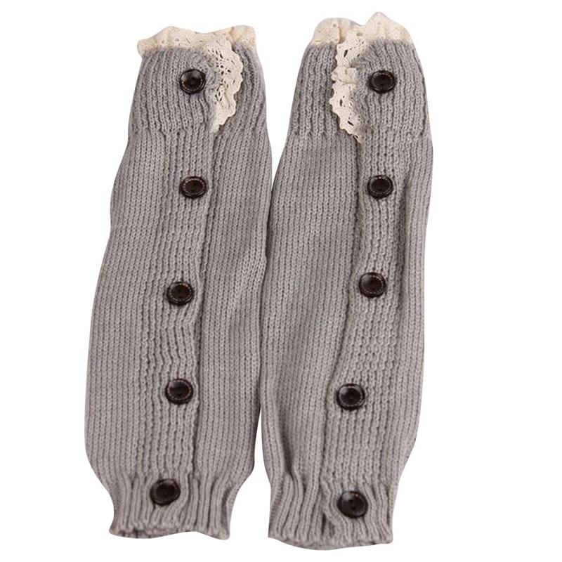 Hot sale Kids Girl Crochet Knitted Lace Boot Cuffs Toppers Leg Warmer Socks