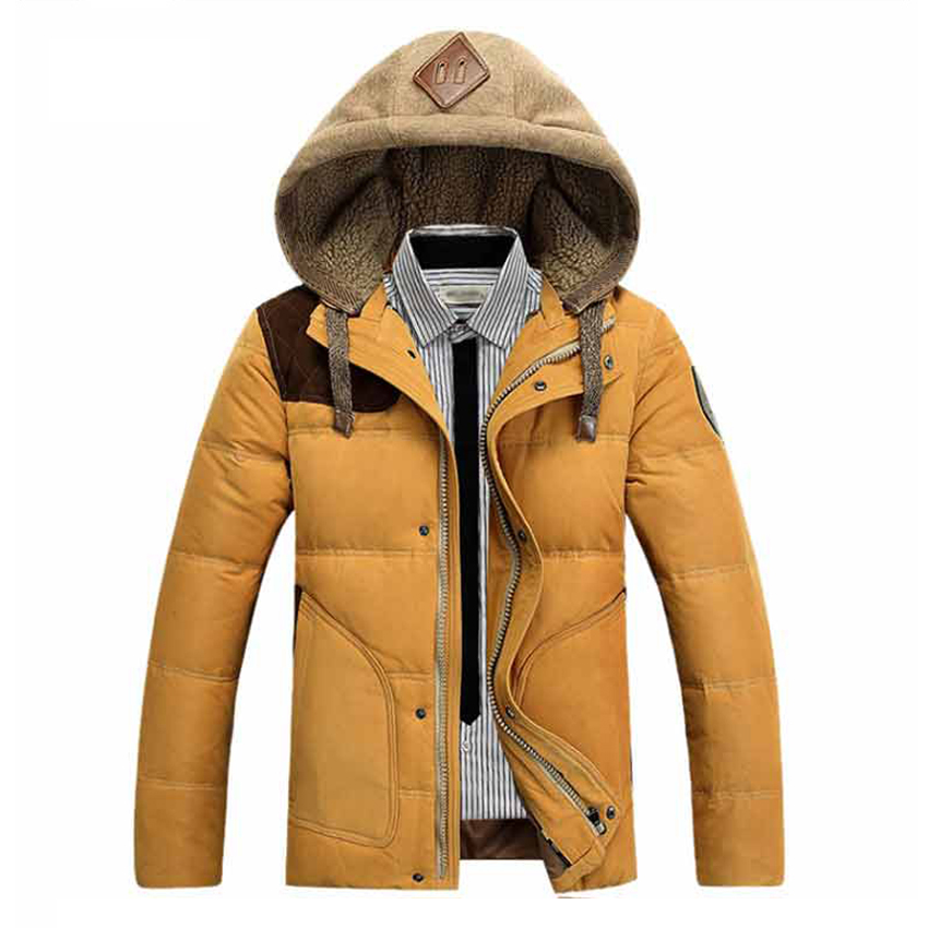 Free Shipping Men down jacket Korean version of youth thicker down jacket Large size coat 42yw