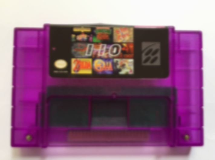 2019 new Save File Super 110 in 1 Game Cartridge for 16 bit NTSC Console with Earthbound/SimCity/Gaia/Harvest Moon etc. image
