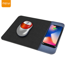 MEIYI Qi Wireless Charger Charging Pad Mouse Mousepad for iPhone XS/XS Max/X/8 Plus Samsung S9 Plus/Note 8 Dock