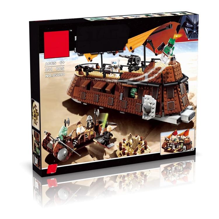 LEPIN 05090 821Pcs star space Series Jaba's Sailing Ship Model Assembly Building Blocks set Bricks children For Toys 6210 8 in 1 military ship building blocks toys for boys