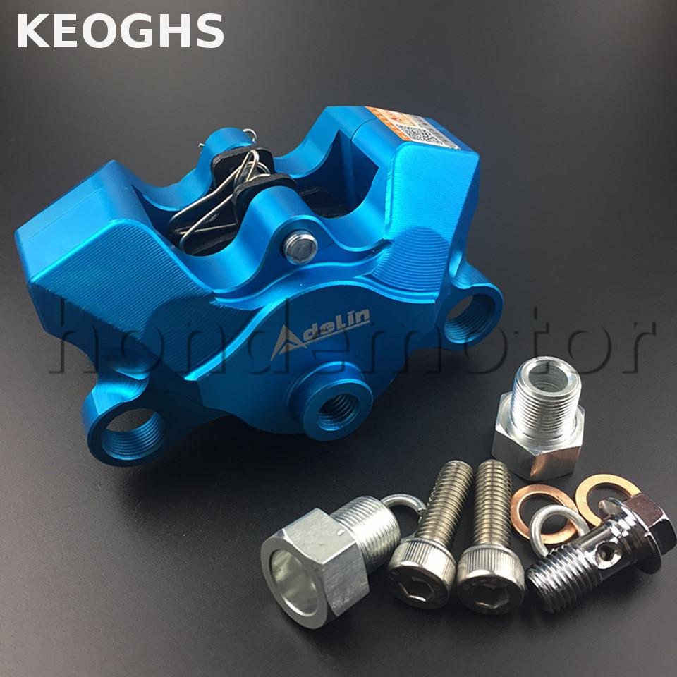 KEOGHS Adelin Motorcycle Brake Calipers 2 Piston 34mm 84mm Hole To Hole Mount Position Adjustable For Honda Yamaha Ducati Vespa keoghs motorcycle brake disc floating 220mm 70mm hole to hole for yamaha scooter honda modify