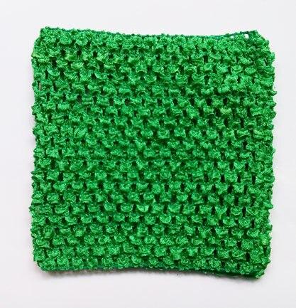 Вязанная крючком юбка-пачка для маленьких девочек, 9 дюймов, топы-трубы, обхват груди, широкая вязаная крючком, топы, юбка-пачка «сделай сам», платье, поставщик - Цвет: Green tutu top