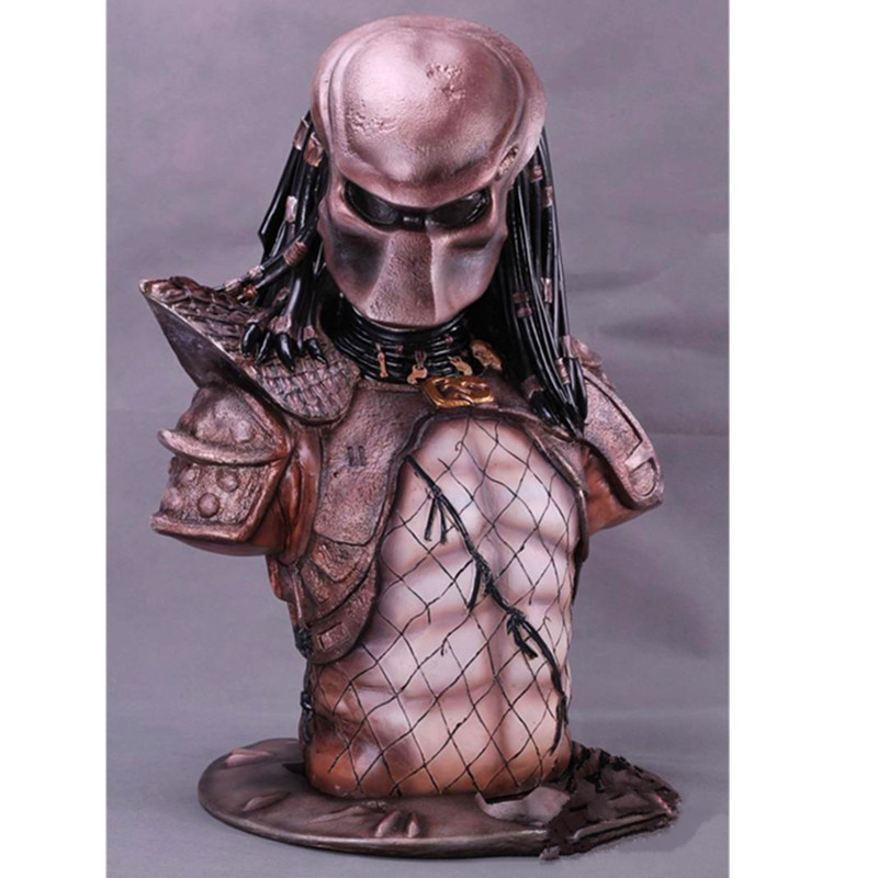 Alien vs. Predator GK Predator Bust Statue Scar Predator Paul Anderson Resin Action Figure Collection Model Toy L2565 цена
