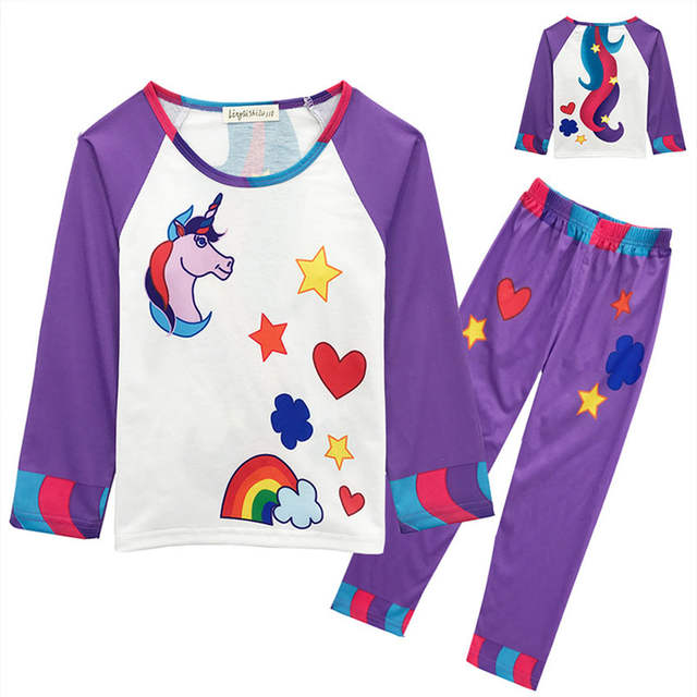 9d7f73aad6 Autumn Children s Clothes Sets Unicorns Christmas Pajamas Baby Girls  pyjamas Kids boys Clothing Ninjago Sleepwear Minnie