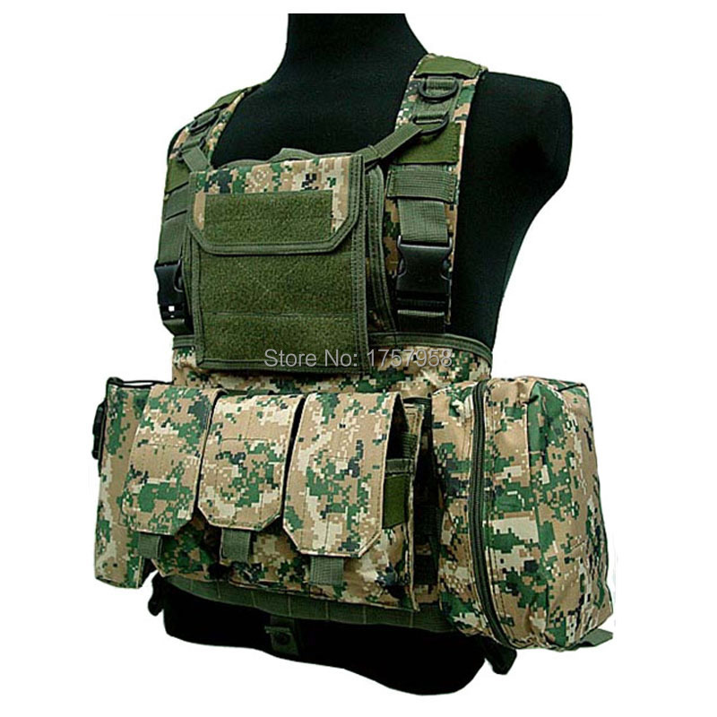 Tactical Airsoft Paintball MOLLE RRV Combat Assault Vest with Pouches USA