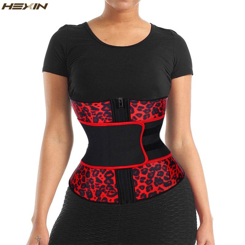 Hexin látex cintura trainer zíper shapewear emagrecimento cintura trainer plus tamanho ampulheta figura cinto de emagrecimento fajas colombianas