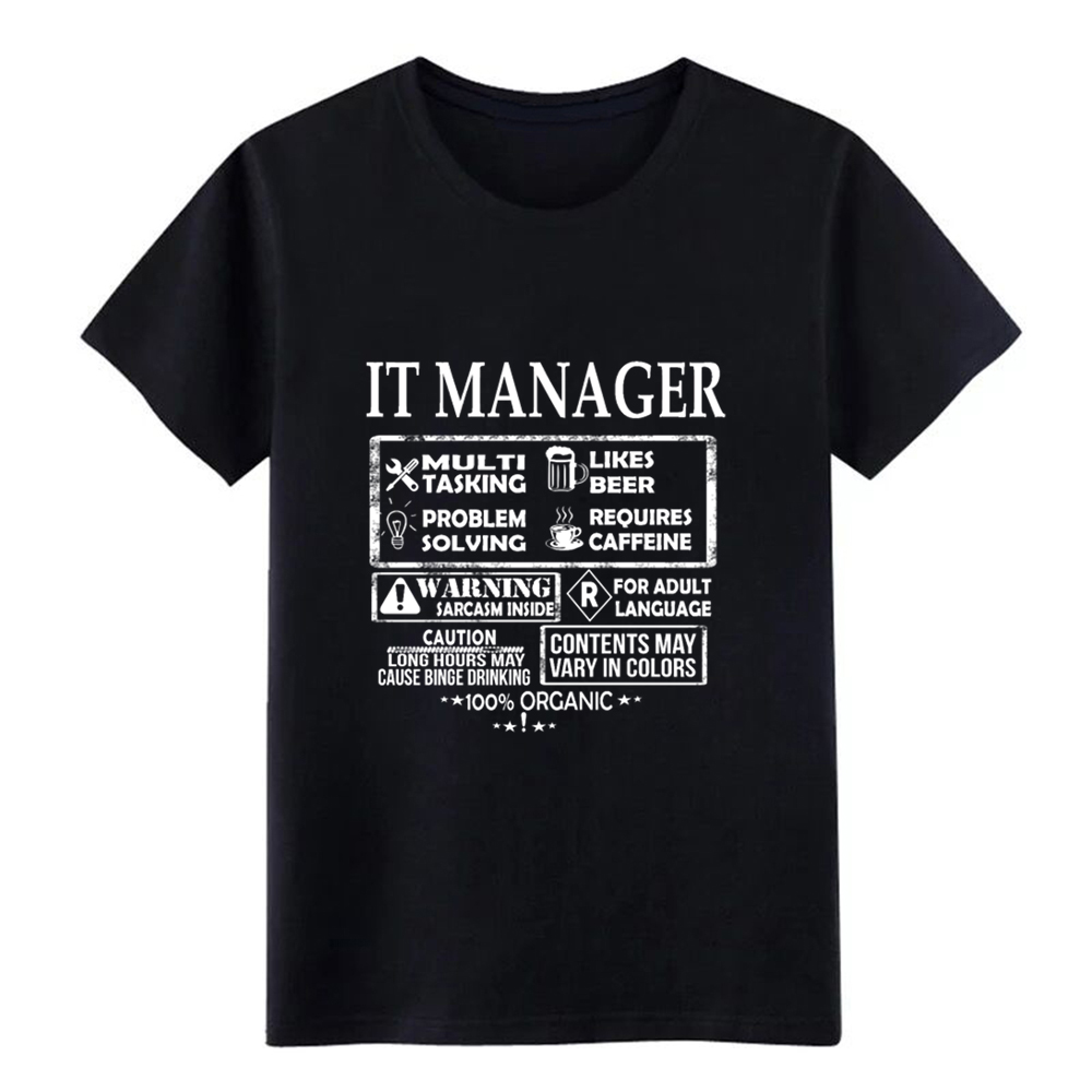 Men's It manager - Which is a multi tasking job t shirt Character Short Sleeve O-Neck Unique Famous Comfortable Trend shirt image
