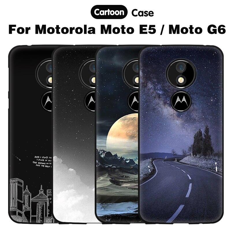 JURCHEN 3D Cartoon Cover For Motorola Moto G6 / Moto E5 Case