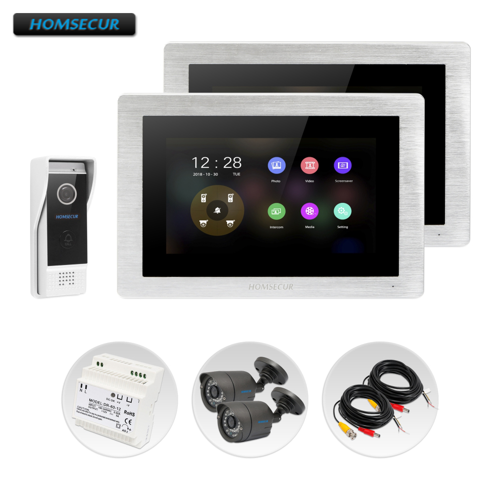HOMSECUR 7 Wired Video Door Entry Phone Call System with 1.3MP CCTV Camera 110 Degree BC031HD-B+BM714HD-SHOMSECUR 7 Wired Video Door Entry Phone Call System with 1.3MP CCTV Camera 110 Degree BC031HD-B+BM714HD-S