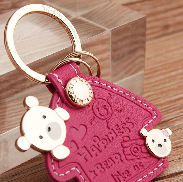 Milesi - New 2014 Brand Bear Key chain Keychain Trinket Key Holder Keyholder Novelty innovative Items Wedding Gift Cloud Couple