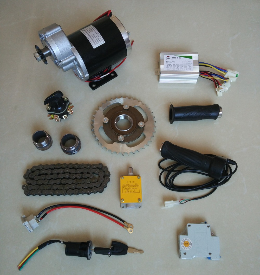 цена на DC 48V 450W MY1020Z brush motor kit , electric bicycle kit ,Electric Trike, DIY E-Tricycle, E- Trishaw Kit