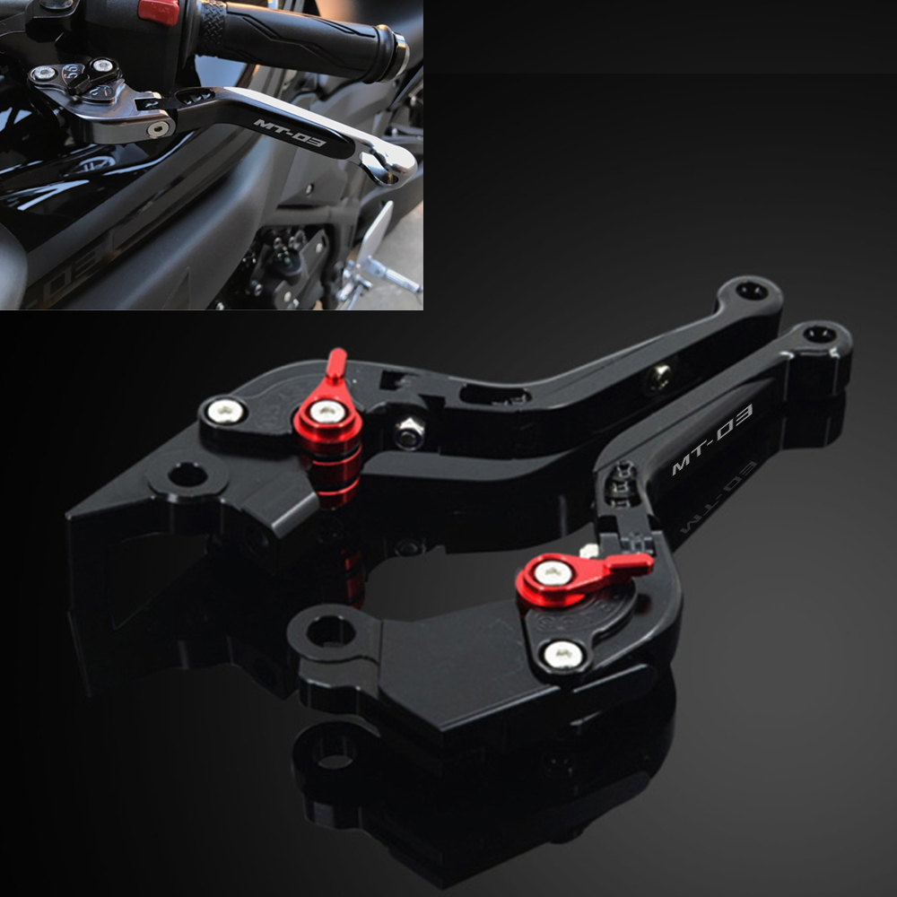 Motorcycle Adjustable Folding Extendable Extending Brake Clutch Levers fits For YAMAHA MT-03 MT03 MT-03 MT 03 2015-2017 billet alu folding adjustable brake clutch levers for motoguzzi griso 850 breva 1100 norge 1200 06 2013 07 08 1200 sport stelvio