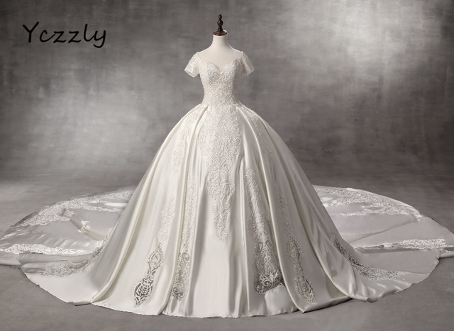 High end Wedding Dress 2017 Luxury Dubai Ball Gown Long Lace ...